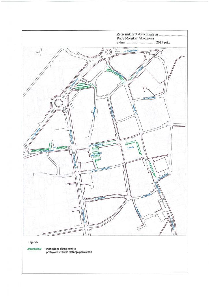 Mapa strefy parkowania